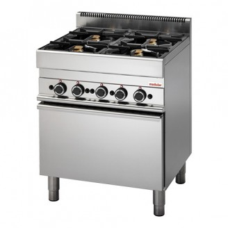 Modular Gas 4-pits fornuis - gas oven