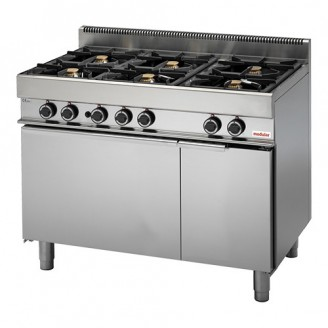 Modular Gas 6-pits fornuis - gas oven